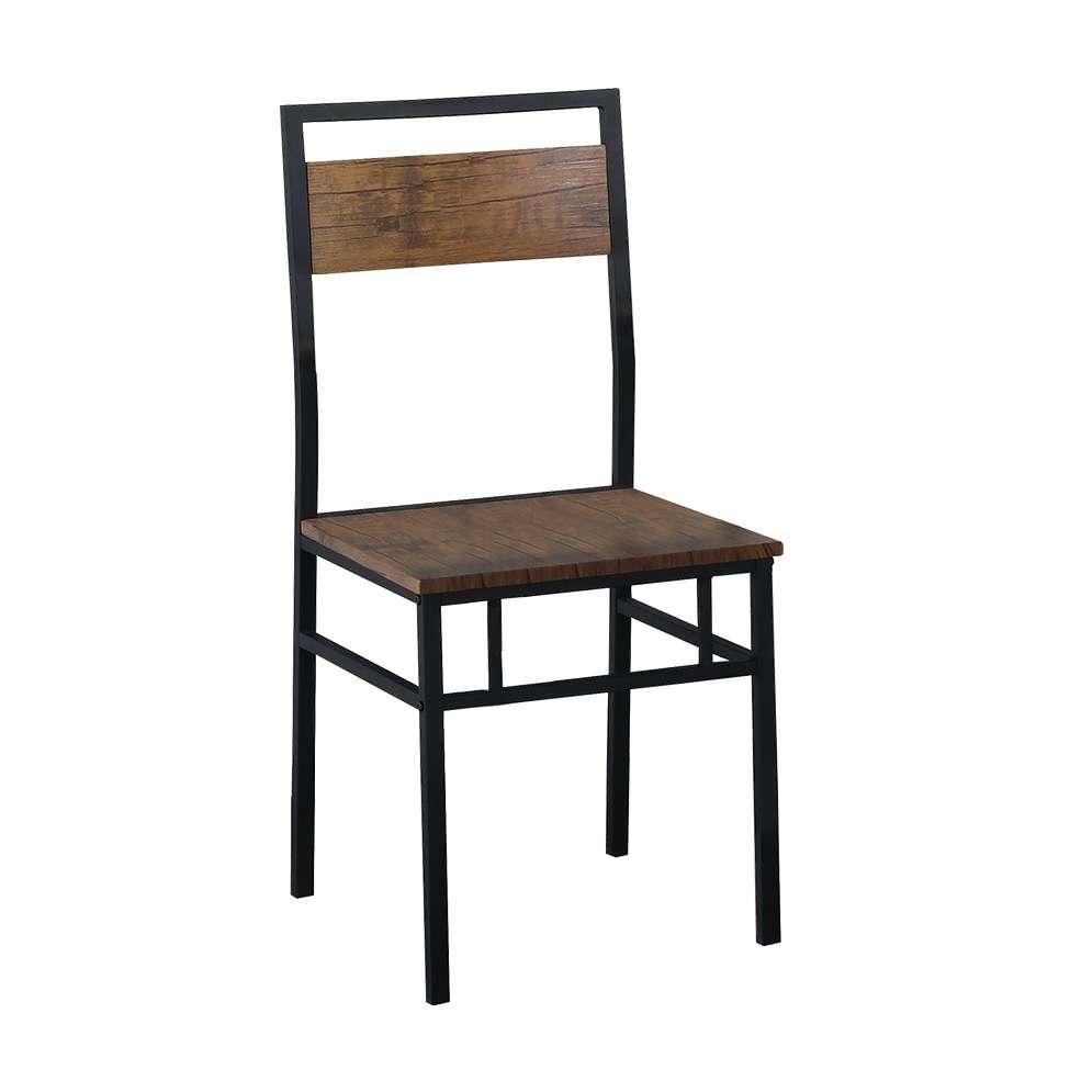 02803be162 Conjunto de Mesa Wooden com 4 Cadeiras Preto e Marrom