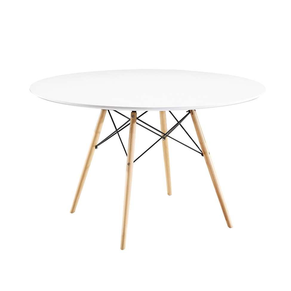 Mesa de Jantar Redonda Eames Eiffel Branca 120 cm 17bfc7130ff