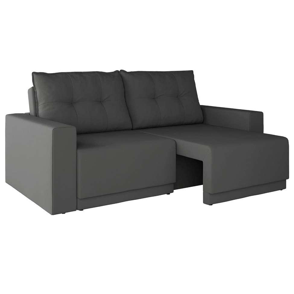 Sofa 3 Lugares Retratil Kennedy Suede Chumbo