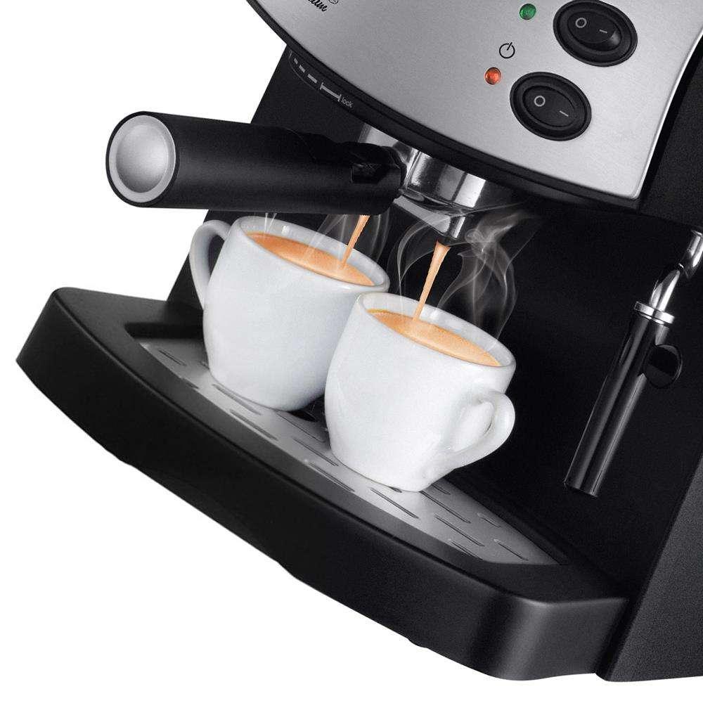 4786f7bb8 Cafeteira Expresso Mondial Coffee Cream Premium C-08 Preto Prata ...