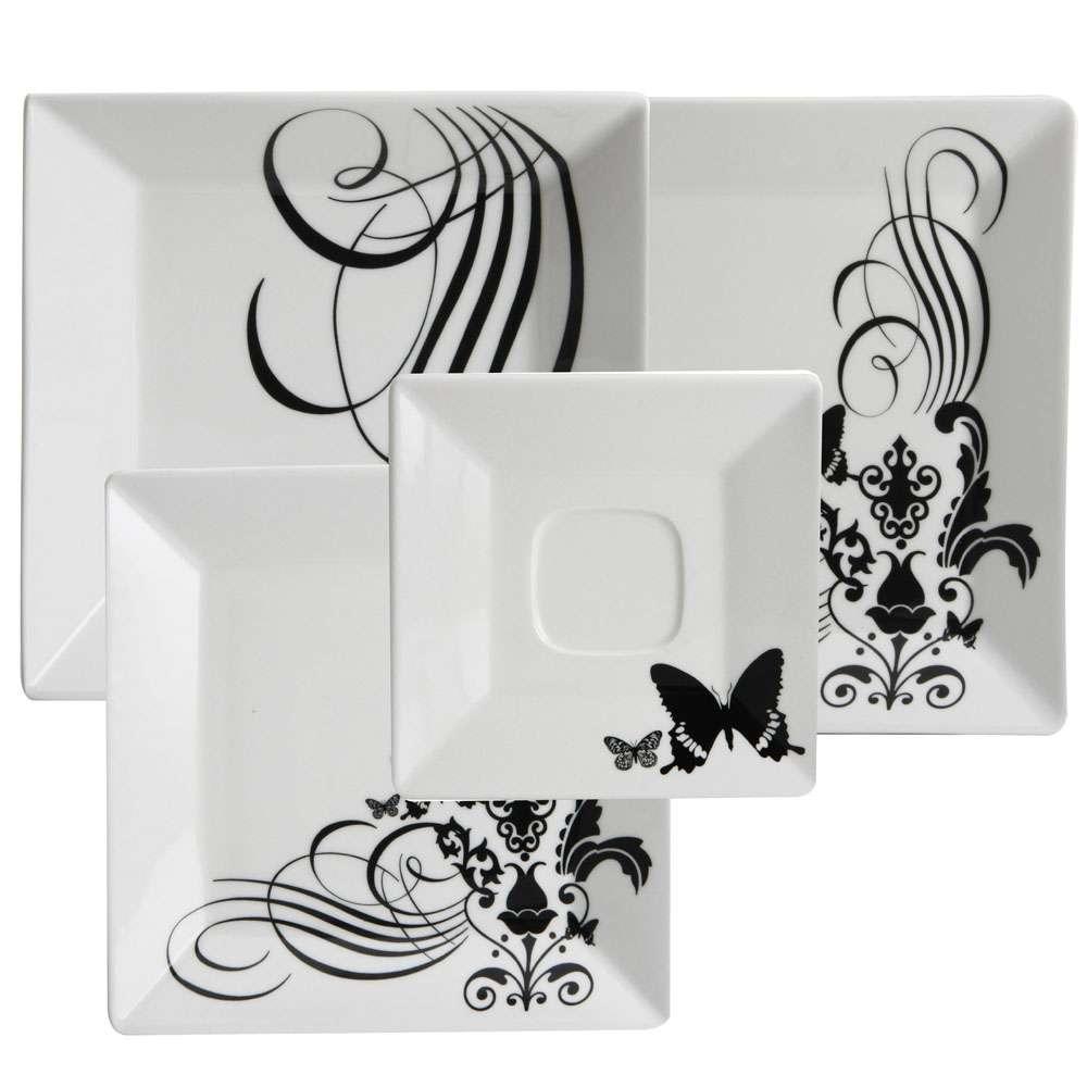 Aparelho De Jantar E Chá Oxford Porcelanas Collection Quartier Tatoo