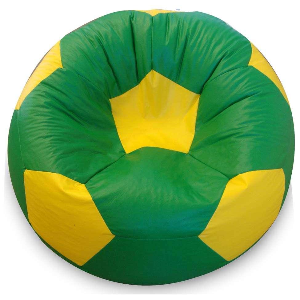 Puff Bola Super em Corino Verde e Amarelo 7a66af2223d6b