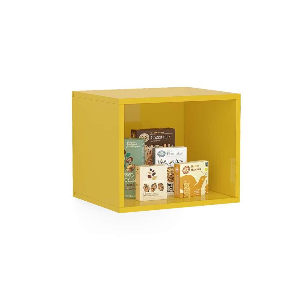 482d7f2c9c3875 Balcão de Cozinha Floripa com 9 Nichos 8 PT 3 GV Branco e Amarelo
