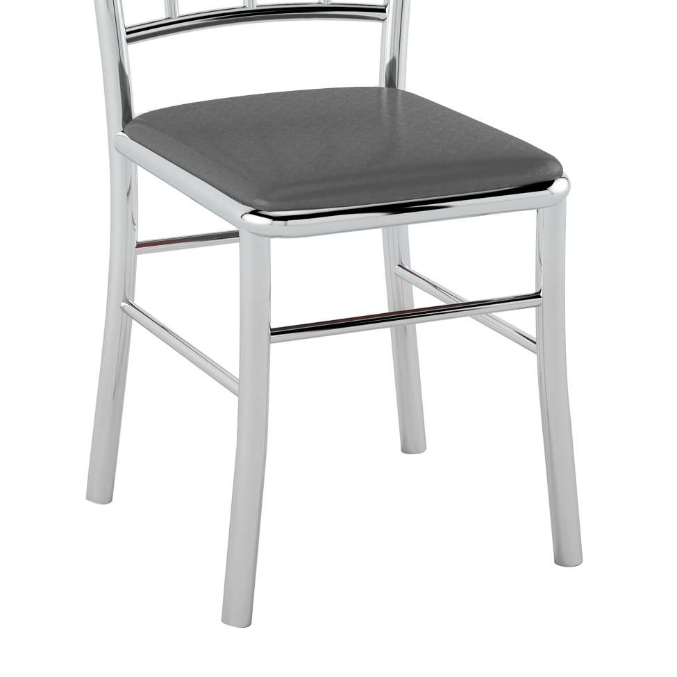 Conjunto com 2 Cadeiras Bone Grafite Metalizado c6adabe5b1b