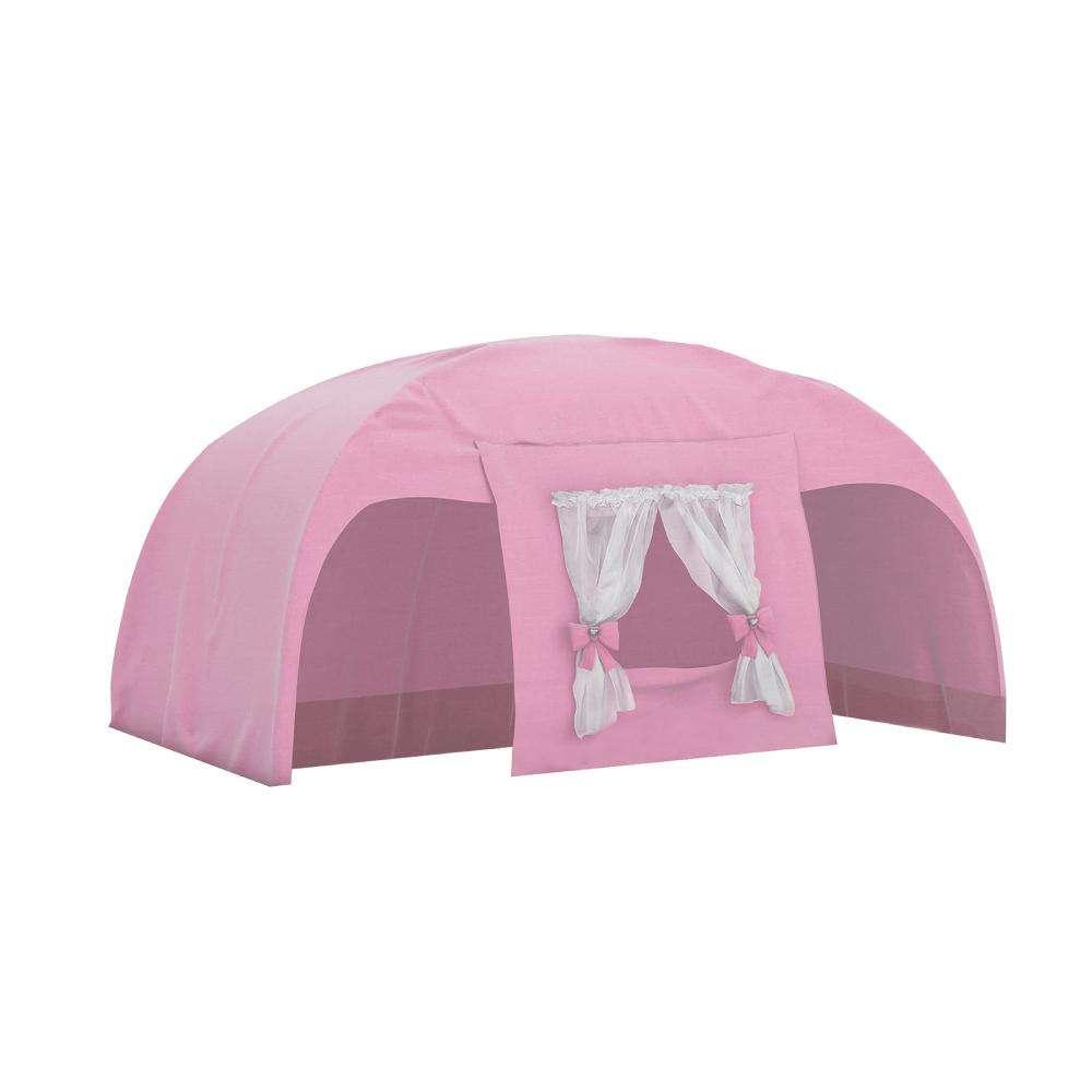 83353e478f Cabana Superior para Camas Infantis Play - Rosa com Cortina Branca - Pura  Magia