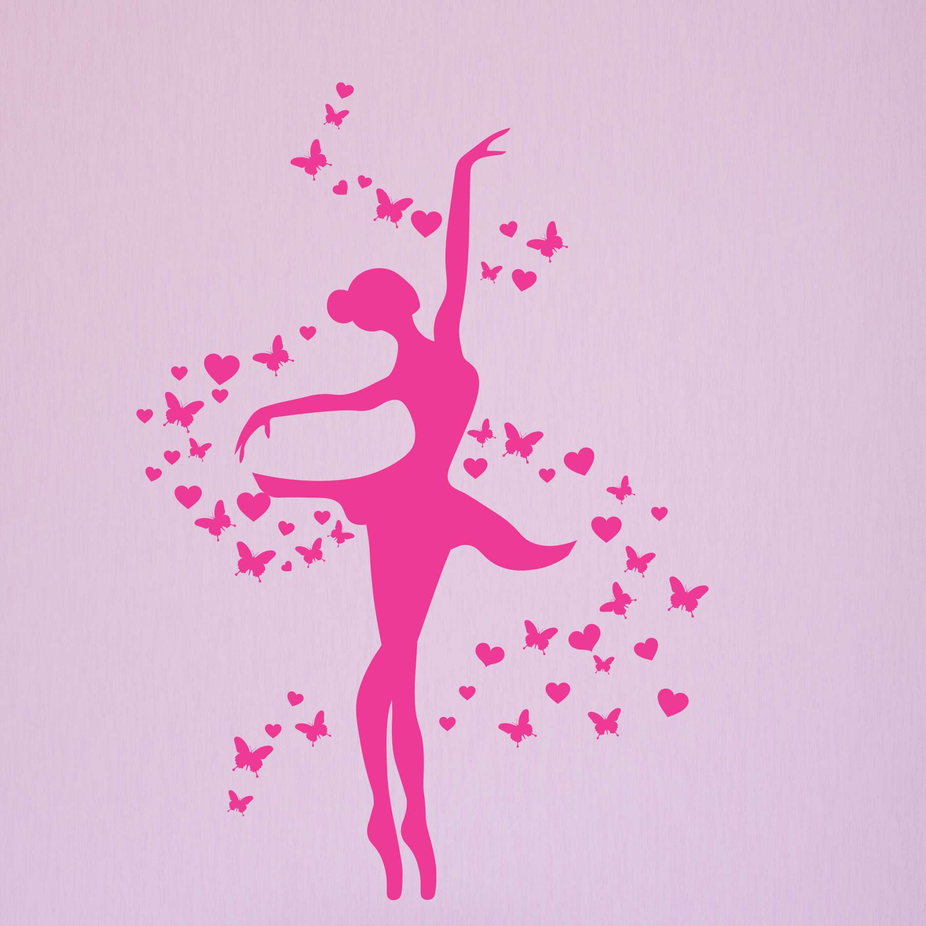 77258224db Adesivo de Parede Bailarina Rosa para Quarto de Menina