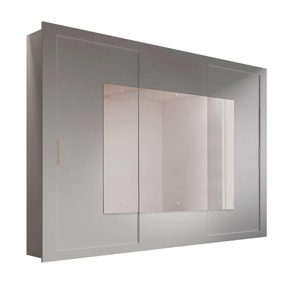 9b4be1ec98d Guarda-Roupa Casal com Espelho Veneza Top Branco 3 Pt 4 Gv