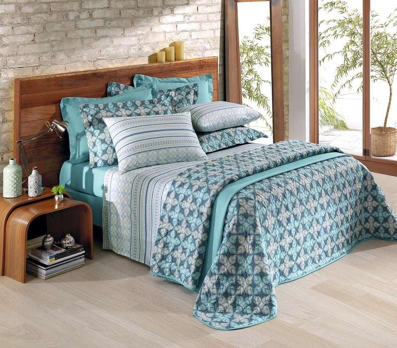b8784d7afb Jogo de cama King Santista 150 fios 100% algodão - Hernandez Verde