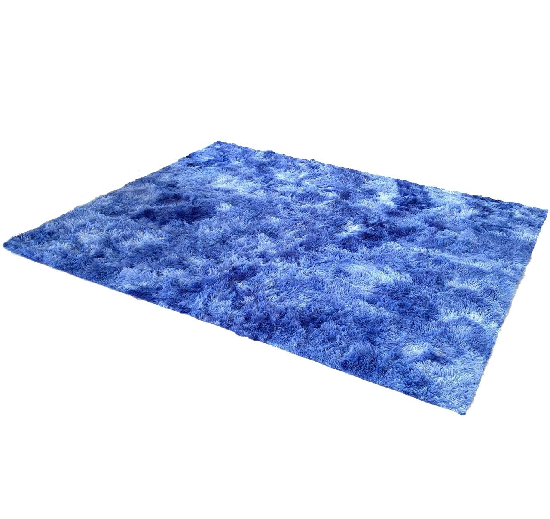 Tapete Saturs Shaggy Pelo Alto Mesclado Azul - 120 x 200 cm Tapete ... caf96e6b50bf