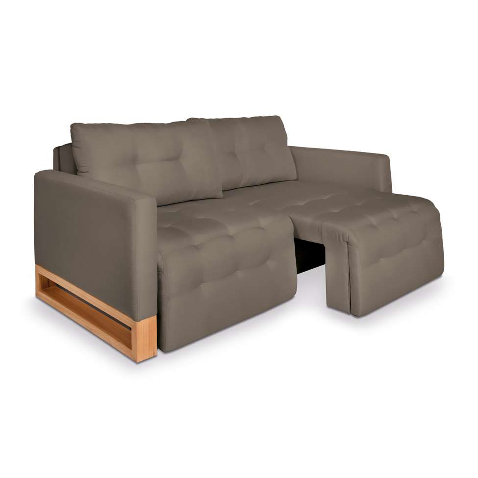 f4a4d679882 Sofá-Cama Casal 3 Lugares Rica Suede Taupe