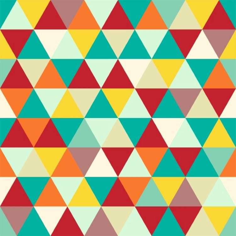 Papel de parede adesivo geom trico mosaico colorido for Mosaico adesivo 3d