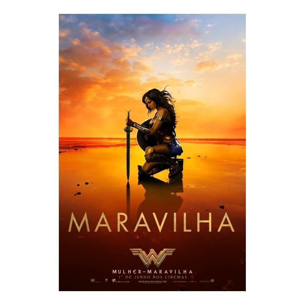 2ec7b75272705b Poster Adesivo Mulher maravilha 2 70x50 cm