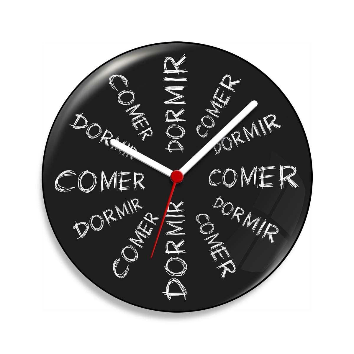 e48dc276f00 Relógio De Parede Comer Dá Sono Dormir Dá Fome - 20 Cm