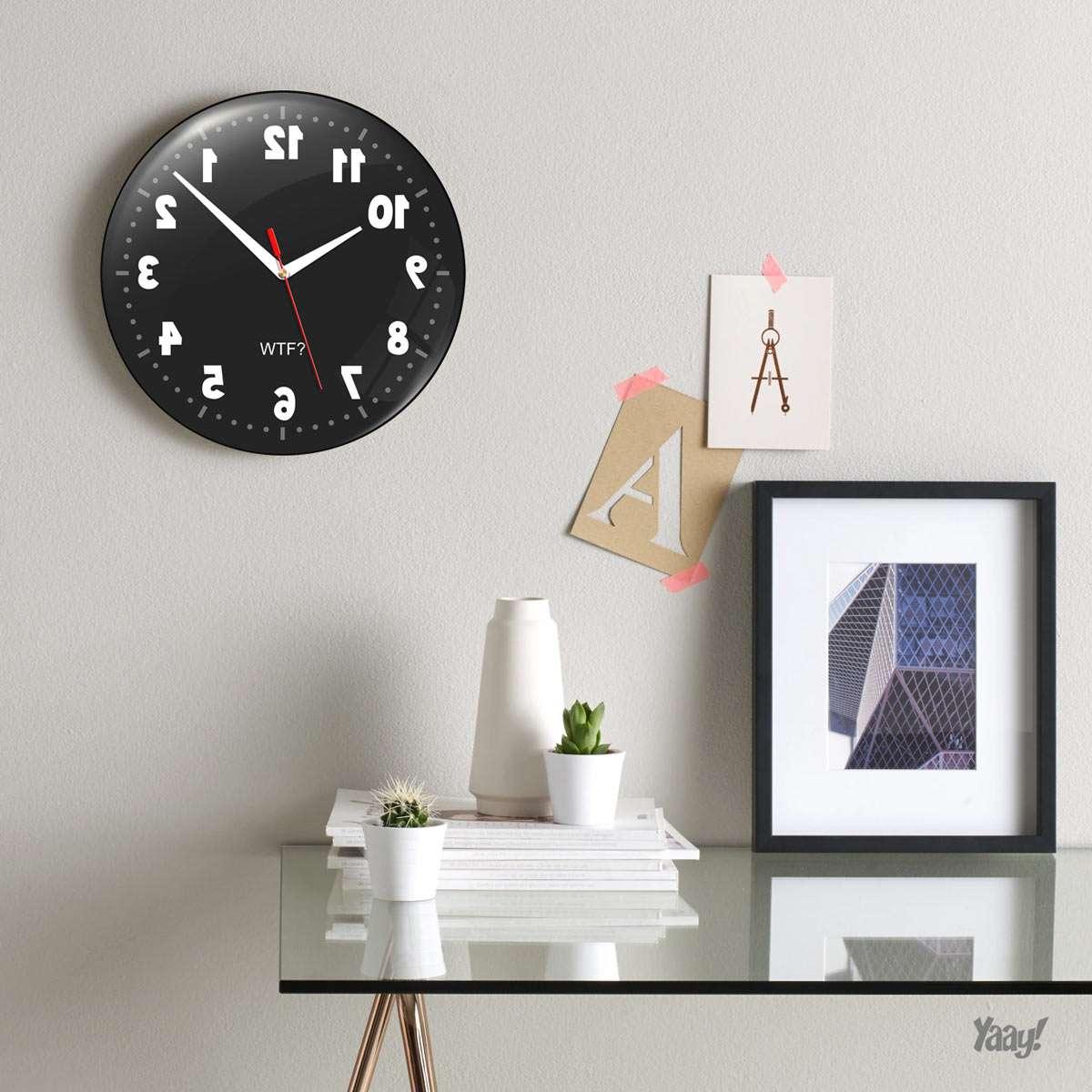 67f91fe4626 Relógio De Parede Geek Anti Horário - 30 Cm