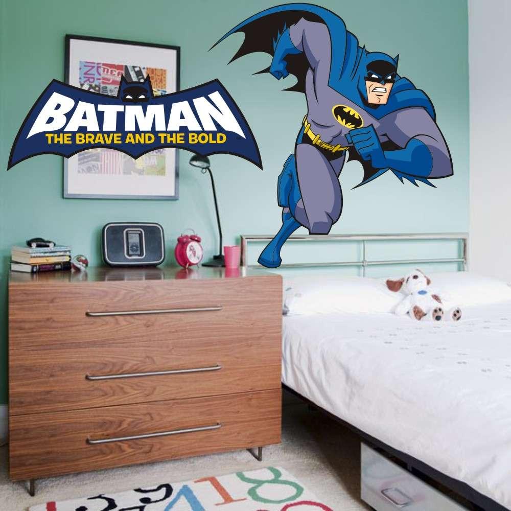 4675dd4b775afe Adesivo de Parede Infantil X4 Adesivos Batman Retro Colorido QI105 G