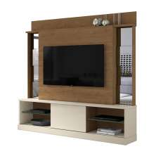 Home Para TV 65 Polegadas Com Espelho Nature Off White 2001104 Mobler