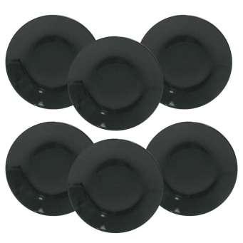 ... Conjunto de Pratos Fundos Oxford Porcelanas Coup Black EM14-4924 - 6  Peças b83ac2767c55b