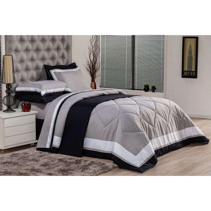 a386d246d9 Jogo de Cama Queen Soft Comfort Cinza
